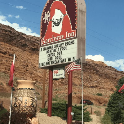 Staying Just Outside Arches National Park – Aarchway Inn Moab