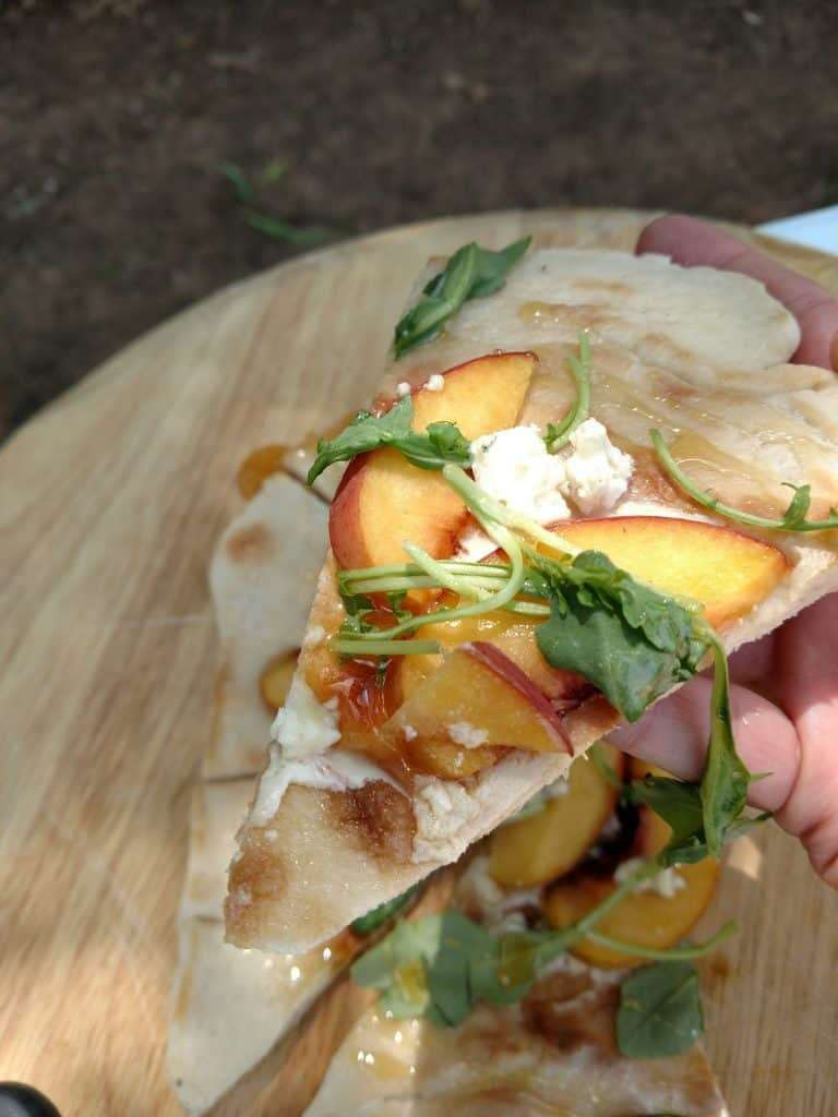 Peach & Honey Pizza