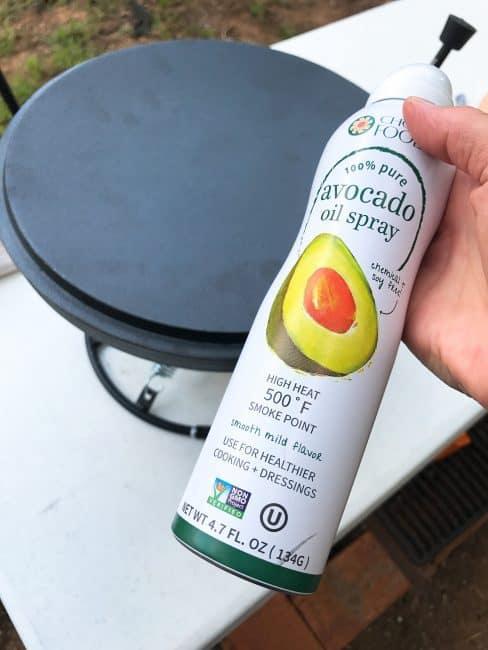 CampMaid Dutch Oven Lid & Chosen Foods Avocado Oil