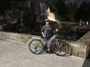 Cycling Downtown at the Myriad Garden
