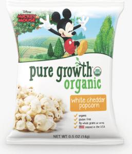 Pure Growth White Cheddar Organic Popcorn