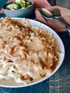 Oktoberfest Smothered Pork Chops with #NoYolks Noodles