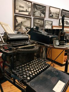 Vintage Typewriters are just one thing you'll see here - Rediscover history at teh Stephens County Museum during a Weekend Getaway in Oklahoma for Families (South-Central Oklahoma)
