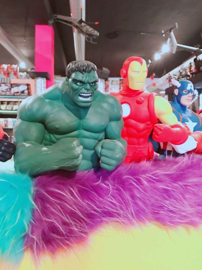 Hulk and Iron man action figures at Toy and Action Figure Museum
