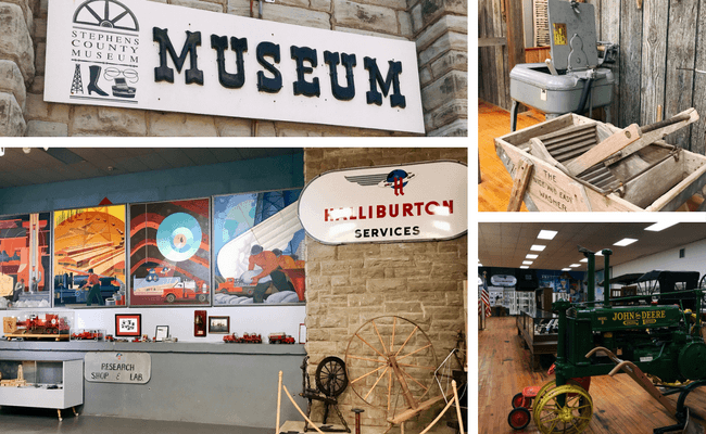 Stephens County Historic Museum displays