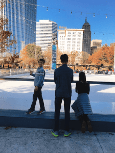 Downtown in December - Devon Ice Rink - - Heading to OKC for a Weekend of Winter Family Fun