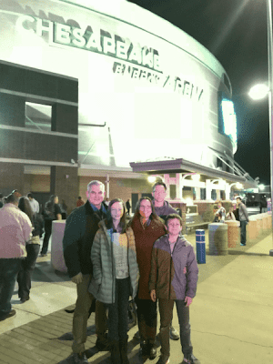 Family at Chesapeake Energy Arena - Heading to OKC for a Weekend of Winter Family Fun
