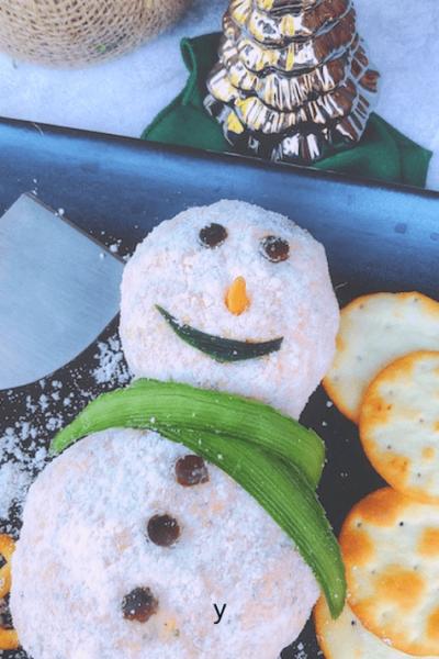 Snowman cheeseball