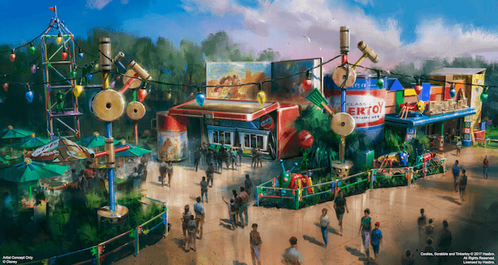 Toystoryland rendering - Going to Disney with a Tween or Teen? Here are a Few Tips on What to Bring Along to a Disney Park.