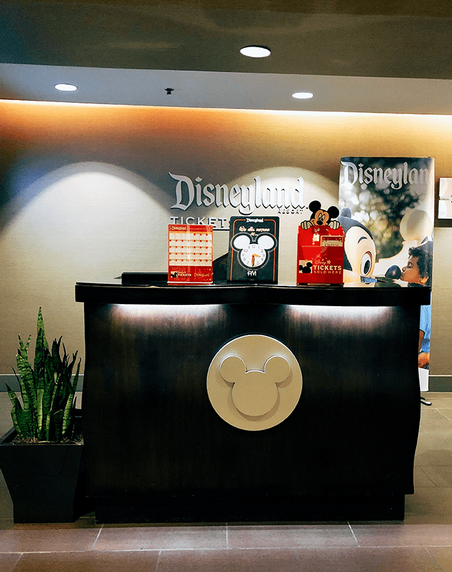 Disney Desk at Anaheim Hilton