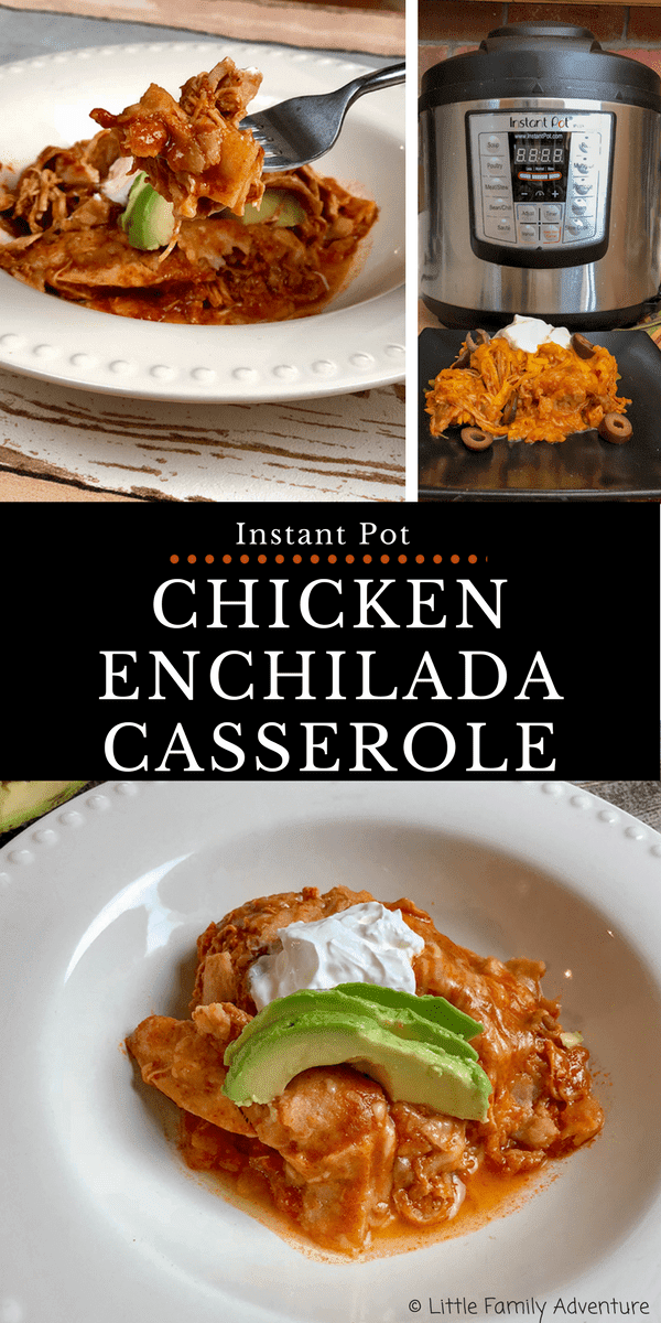 Chicken Enchiladas Casserole pin