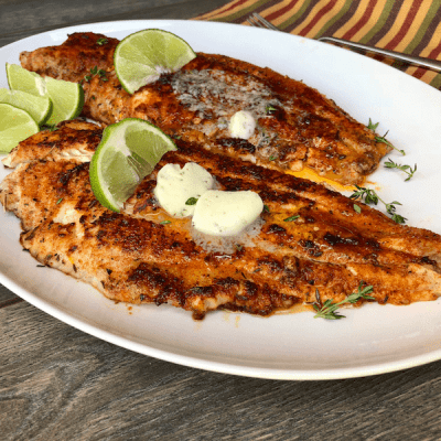Treat The Family to this Blackened Grilled Catfish