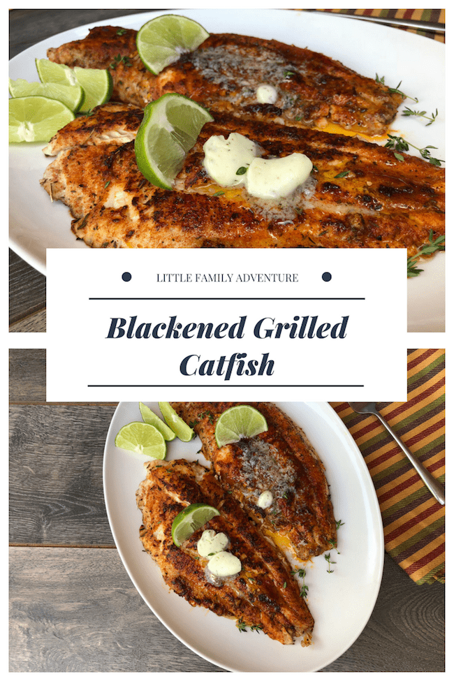 Blackened Grilled Catfish -
