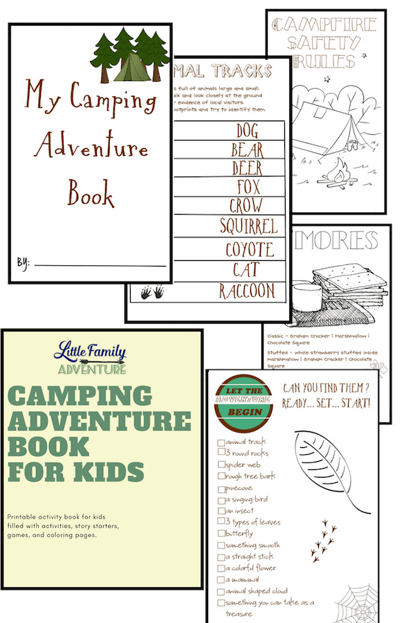 Camping Adventure Book for kids