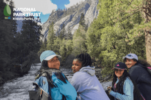 Children outdoors for National Kids to Parks Day