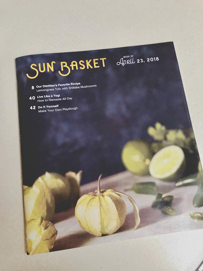 Sun Basket Meals & recipe booklet
