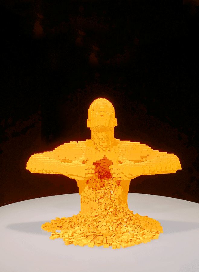 Art of the Brick Yellow Man