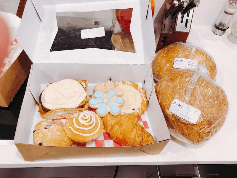 Baked goods from Fayze's Bakert in La Crosse WI