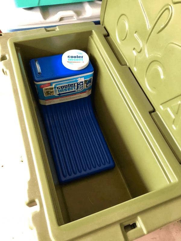 Cooler Insert inside ice cooler