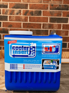 Cooler Insert to keep food cold while camping