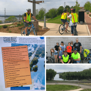 Cycling along the Great River State Trail