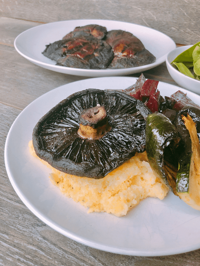 Grilled Portobello with polenta