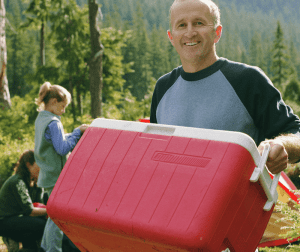 Ice Cooler while camping -bgt[5 Do you enjoy car camping or tailgating, but hate soggy food inside the ice chest? We do too!