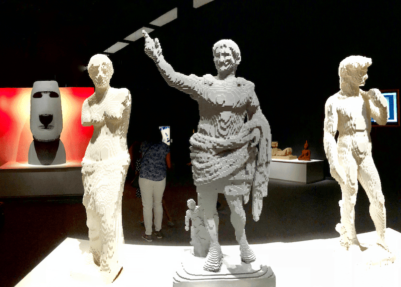 Art of the Brick Exhibit Sculptures