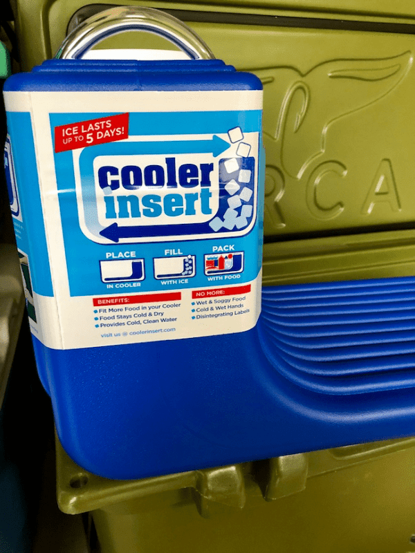 Cooler Insert but -[Do you enjoy car camping or tailgating, but hate soggy food inside the ice chest? We do too!