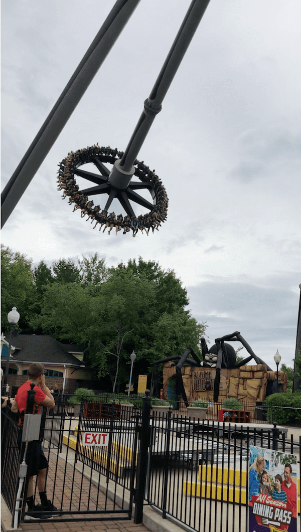 Black Widow at Kennywood