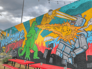 Godzilla Meets Mr. Robot - OKC Murals