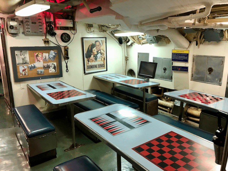 USS Requin Submarine Rec Room