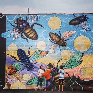 Vibratory Messages Generated by Tethered Bees - Western Avenue Mural