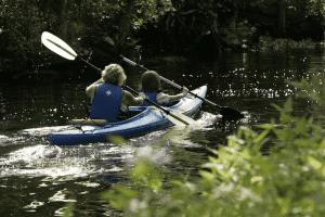 family Kayaking in Oklahoma