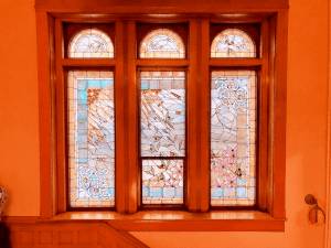 Original Stained Glass Holway Mansion