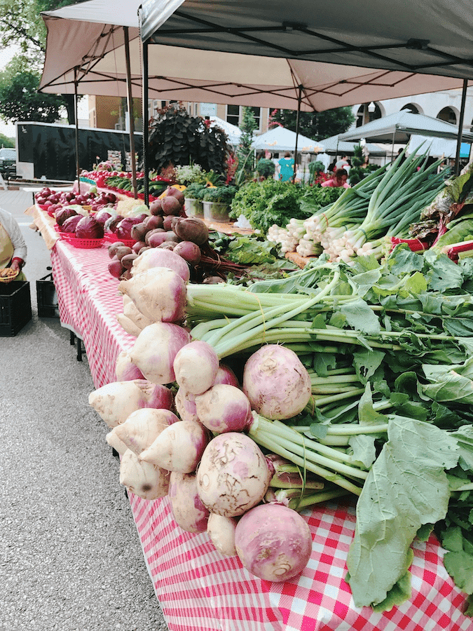 Produce at the Bentonville Farmers Market