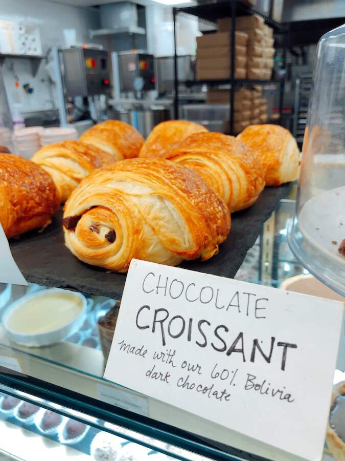 Chocolate croissants from Markham and Fitz
