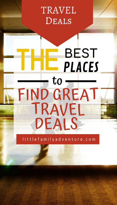 best places to find travel discounts graphic