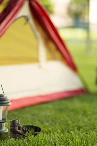 camp tent and gear