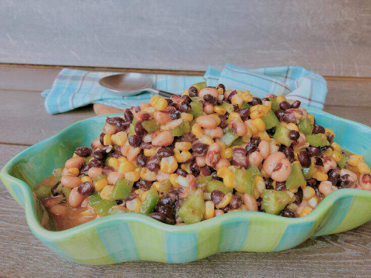 Black Bean and Black Eyed Peas Salad