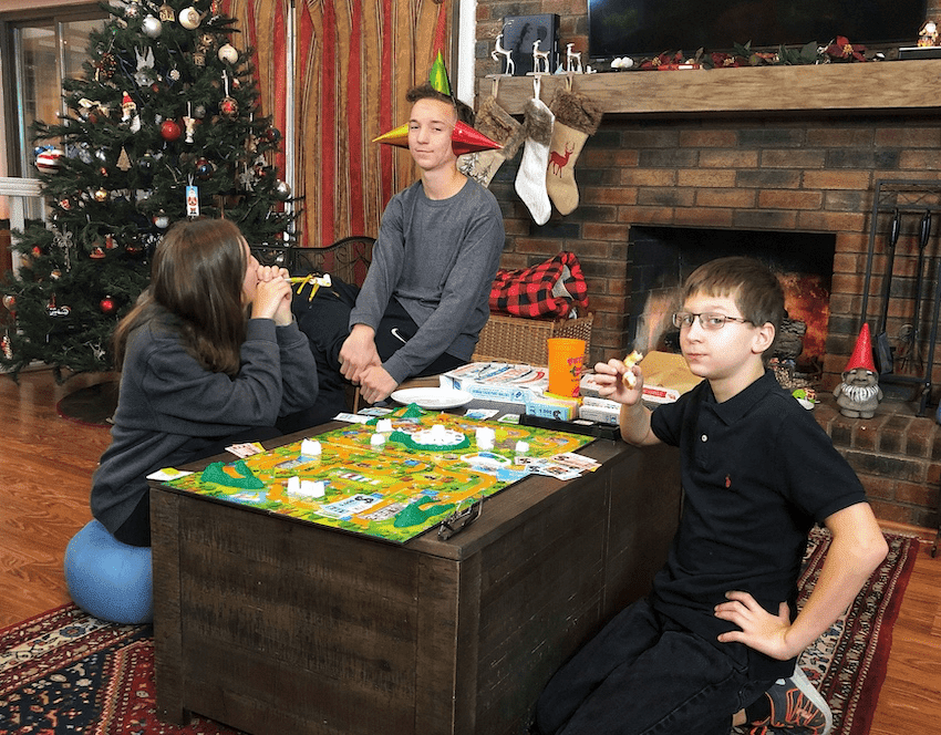 Family fun on game night