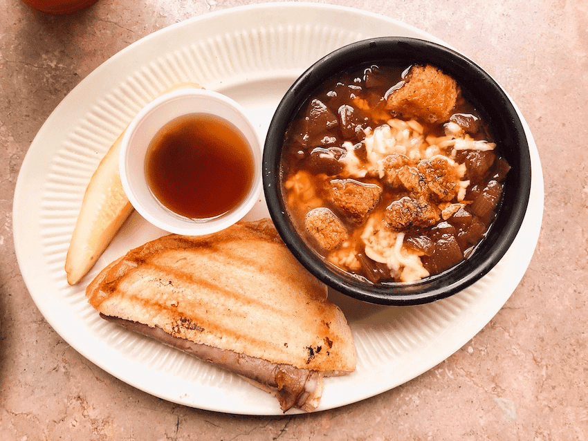 French onion soup and sandwich - Restaurants in Enid OK