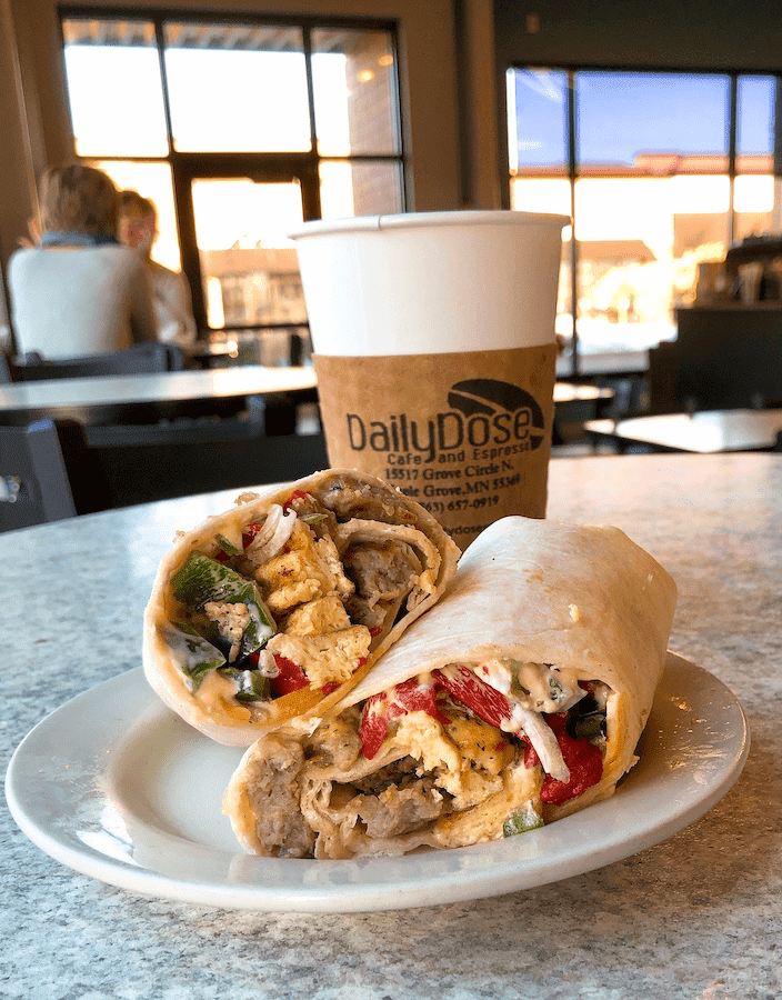 Breakfast and coffee at Maple Grove restaurants' Daily Dose