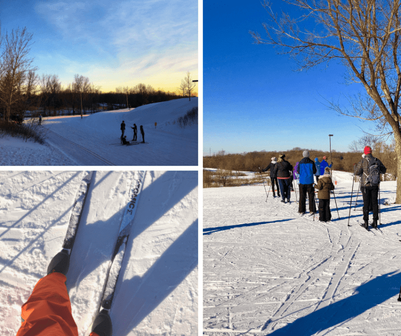 cross country skiing Elm Creek Park