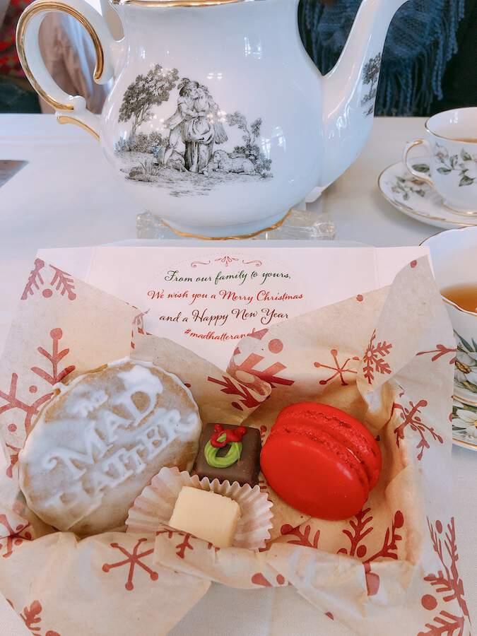 Mad Hatter Christmas Tea desserts