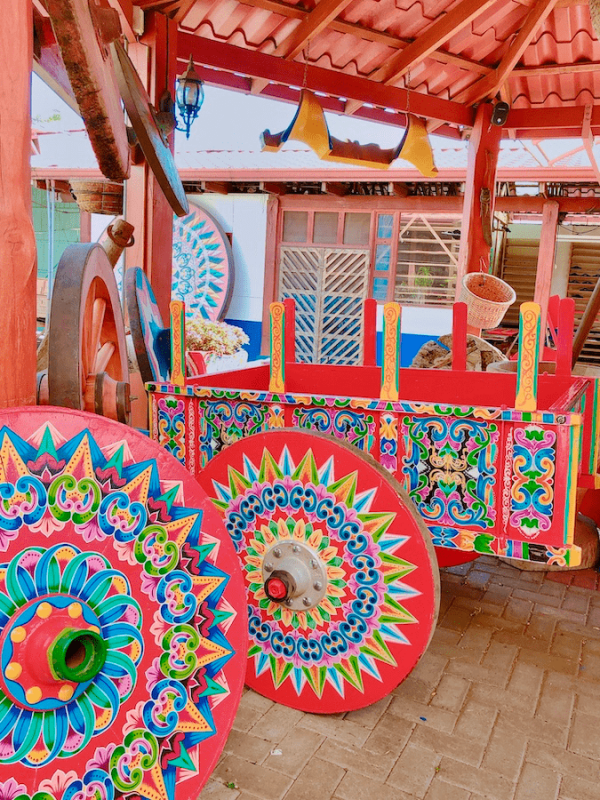 Sarchi painted oxcart