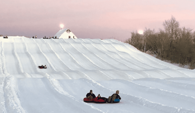 Snow Tubing in Maple Grove