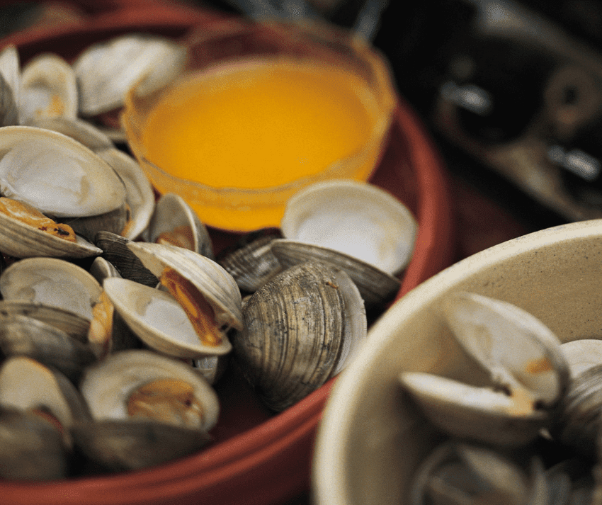 Steamed clams at Crazy Cajun