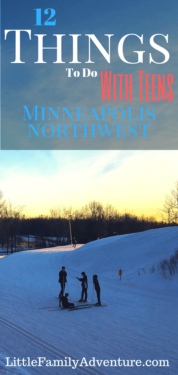 Check out our list of fun things to do in Minneapolis Northwest with teens this winter #onlyinmn #skiing #snowtubing #winterfun #minnesota