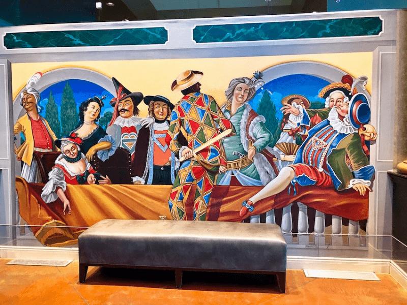 Venetian themed mural